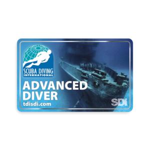 SDI Advanced Diver Blank Certification Card-0