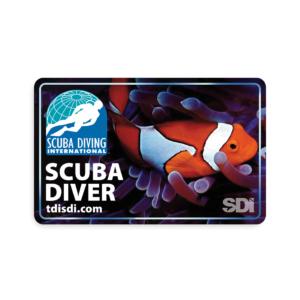 SDI Open Water Blank Certification Card-0