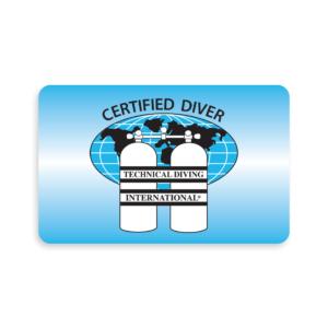 TDI Diver Blank Certification Card-0