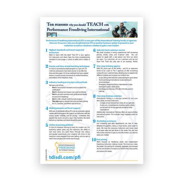 PFI Top Ten Reasons to Teach Brochure-0